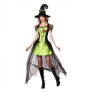 Déguisement Sorcière Verte Halloween pour femme