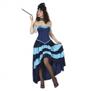 Déguisement Cabaret bleu femme