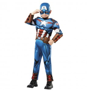 Déguisement Captain America Deluxe garçon
