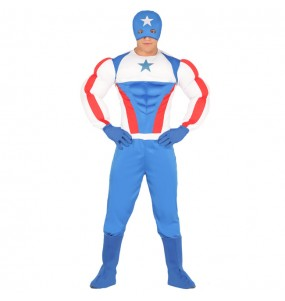 Déguisement Captain America Musclé pour homme