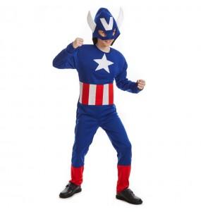 Déguisement Captain America musclé pour garçon