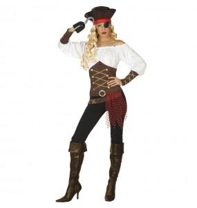 Déguisement Capitaine bateau pirate femme