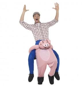 Déguisement Porte Moi Cochon adulte