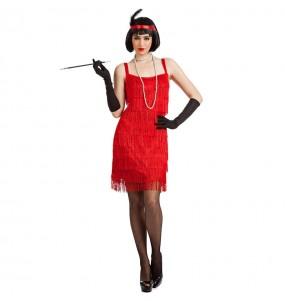 Déguisement Charleston à franges rouges pour femme