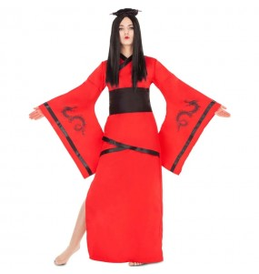 Déguisement Chinoise Dragon rouge femme