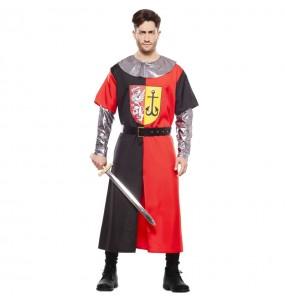 Déguisement Croisé Médiéval rouge homme