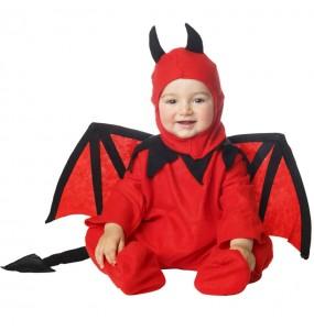 Déguisement Démon rouge avec ailes bébé