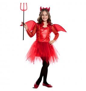 Déguisement Démon rouge avec ailes fille
