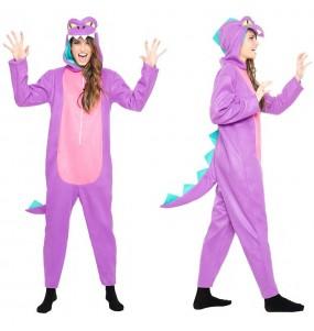 Déguisement Dinosaure Violet pour femme