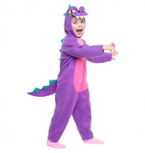 Déguisement Dinosaure Violet pour fille