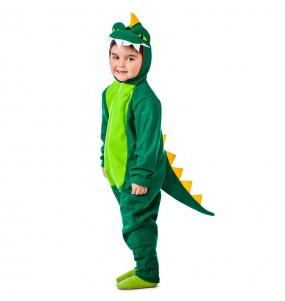 Déguisement Dinosaure Vert pour garçon