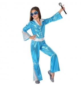 Déguisement Disco Bleu fille