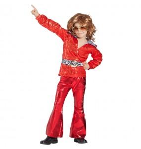Déguisement Disco Rouge garçon