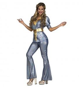 Déguisement Disco Silver femme