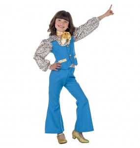 Déguisement Disco Girl bleu fille