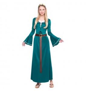 Déguisement Demoiselle Médiévale Verte pour femme