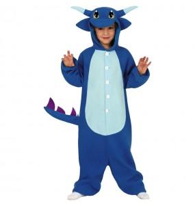 Déguisement Dragon Bleu Kigurumi garçon