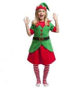 Déguisement Elfe assistant Père Noël fille