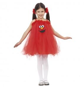 Déguisement Elmo avec tulle pour fille