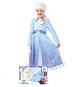 Déguisement Elsa Frozen avec perruque fille