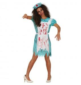 Déguisement Infirmière zombie ambulante femme