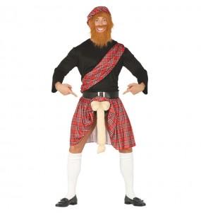 Déguisement Écossais Exhibitionniste adulte