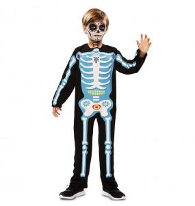 Déguisement Squelette bleu jour des morts garçon