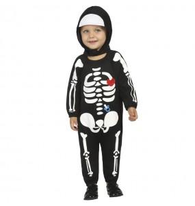 Déguisement Squelette avec capuche bébé