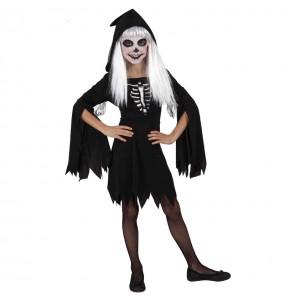 Déguisement Squelette à capuche fille