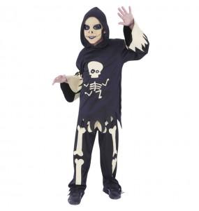 Déguisement Squelette avec yeux mobiles garçon