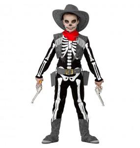 Déguisement Squelette Cowboy garçon
