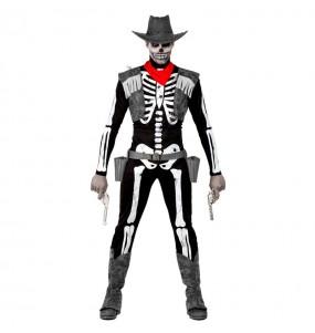 Déguisement Squelette Cowboy homme