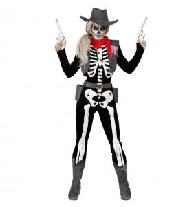 Déguisement Squelette Cowgirl femme