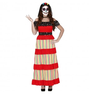 Déguisement Squelette Catrina Femme