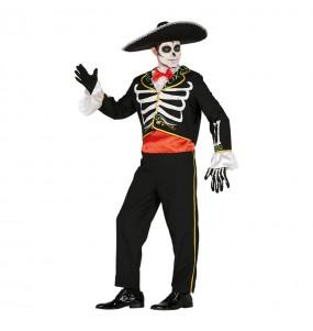 Déguisement Squelette Mariachi adulte