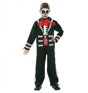 Déguisement Squelette méxicain noir garçon