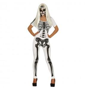 Déguisement Esquelette Femme Blanche