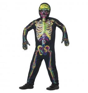 Déguisement Squelette multicolore garçon