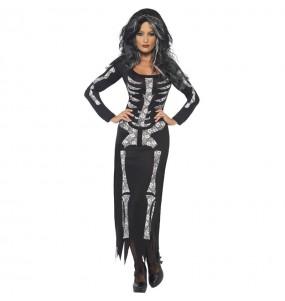 Déguisement Squelette noir femme