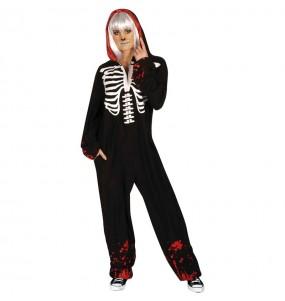 Déguisement Squelette sanglant Kigurumi adulte