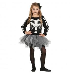 Déguisement Squelette Tutu gris pour fille