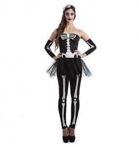 Déguisement Squelette tutu femme