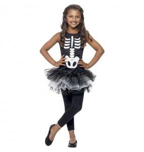 Déguisement Squelette tutu fille