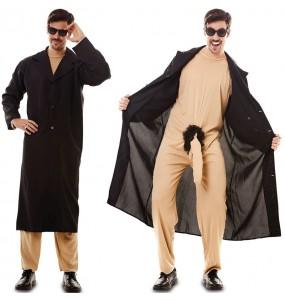 Déguisement Exhibitionniste en manteau homme