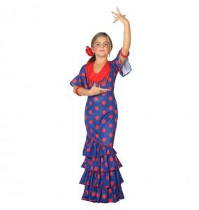 Déguisement Flamenco Bleu pour fille