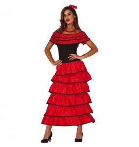 Déguisement Flamenco Sévillane Rouge femme
