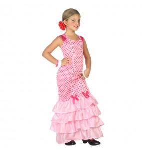 Déguisement Flamenco Rose pour fille