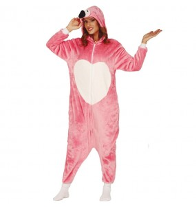 Déguisement Flamant Rose Kigurumi adulte