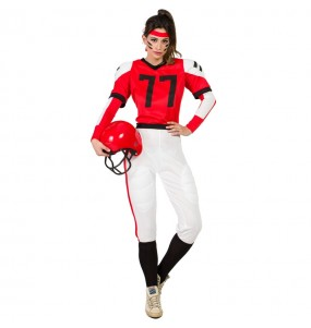 Déguisement Football Américain rouge femme