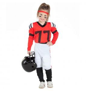 Déguisement Football Américain Rouge fille